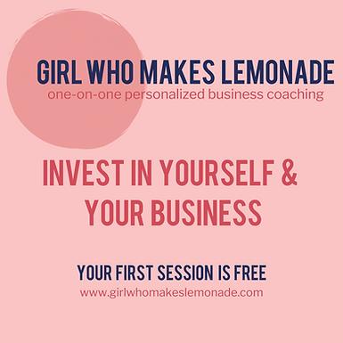 Girl Who Makes Lemonade Business Coaching