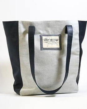 Re:new Project Tote, sewn by refugees, made in the USA. https://www.renewproject.org/collections/bags
