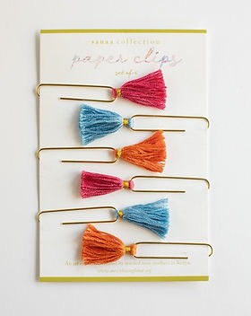 Mercy House Global tassel paper clips. Fair trade. https://mercy-house.myshopify.com/collections/teacher-appreciation