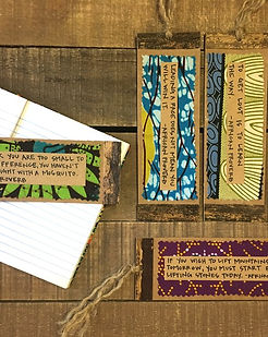 Grain of Rice Project Bookmarks. Handmade in Kenya with African Proverbs on each one. https://grain-of-rice.myshopify.com/collections/other/products/african-proverb-bookmarks
