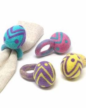 Fair Tribe Easter Egg Napkin Rings.