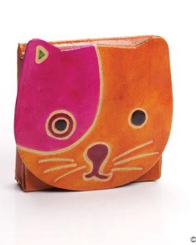 Serrv cat coin purse. Fair trade. https://www.serrv.org/category/s?keyword=coin+purse
