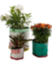 Freedom's Promise flower pots. Eco-friendly and fair trade.  Made from recycled rice bags. http://www.freedomspromise.org/product/flower-pots/
