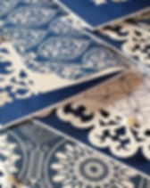 A Sister's Heart Italian blue notecards. https://www.etsy.com/shop/ASistersHeart