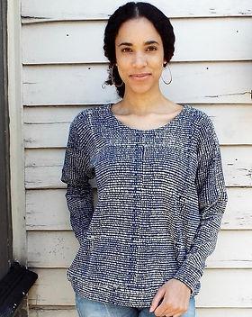 Mango + Main Dotted Blue Fleece Sweater. Fair Trade.
