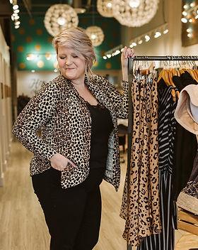 Purpose Boutique Leopard Blazer.