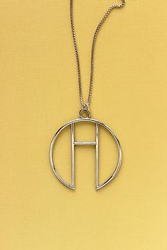 Made Trade Geometric Circle Necklace Brass. Ethically-made Jewelry.