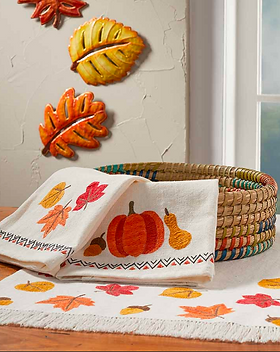Serrv Falling Leaves Fair Trade Table Runner