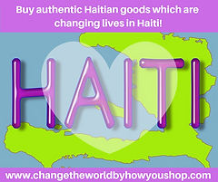 Buy Haiti-made products which are handmade, fair trade and give back to make a difference in Haiti! https://www.changetheworldbyhowyoushop.com/haiti