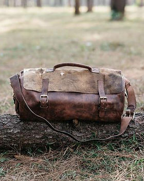 Atitlan Leather Men's Weekender Duffle Bug. Ethically Made Leather Travel Bags.