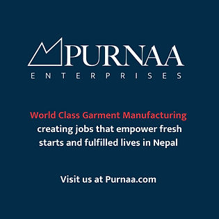 Purnaa Banner: Ethical Cut and Sew Manufacturing