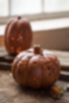 Ten Thousand Villages pumpkin votive holders.  Fair trade fall decor. https://www.tenthousandvillages.com/catalogsearch/result/?q=fall