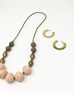 Sparrow Studio garden party necklace. Rolled paper beads. Ethically handmade. http://www.thesparrowstudio.com/necklaces/