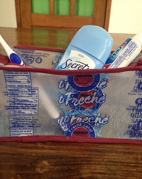 Peace Cycle toiletries bag. Eco-friendly and ethically made from upcycled trash in Haiti! http://www.peacecycle.com/