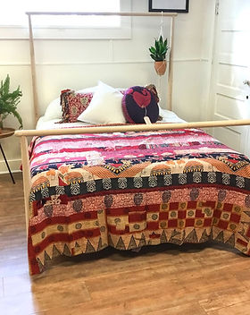 Sari Bari Quilt. Made from upcycled saris.