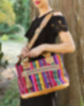 Elegance Restored Weekender Bag. Handmade in Guatemala. An Ethical Boutique that gives back to adoptions. https://www.elegancerestored.com/collections/bags