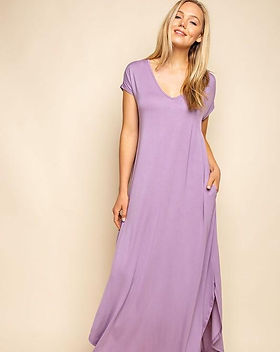 Amma's Umma Jersey Purple Maxi Dress with Pockets. https://ammasumma.com/collections/dresses