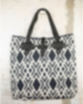 Rahab's Rope Navy Printed Bag.