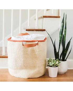 Fair Tribe Sisal Laundry Basket. Fair Trade African Baskets.