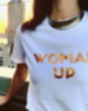 Around Eco Woman Up t-shirt. Fair trade, organic, eco-friendly and made in the USA. https://aroundeco.com/collections/gamechangers-collection/products/woman-up