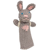 Lucuma Designs Fair Trade Bunny with Backpack Finger Puppet