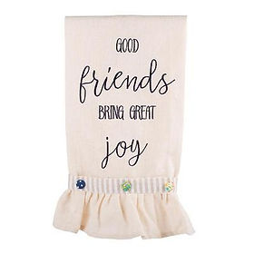 Rahab's Rope Good Friends Bring Great Joy Tea Towel.