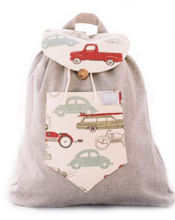 Vi Bella cars backpack.