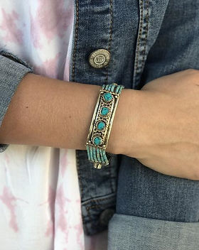 Shop With a Mission bracelet handmade by Iraqi refugees in Jordan. Fair Trade. https://shopwithamission.com/search?q=refugees