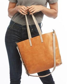 Mango + Main Crossbody Leather Tote Fair Trade.