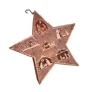 Gifts With a Cause Nativity Star Lantern Votive. Fair Trade Christmas Decorations.