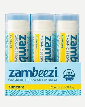 Zambeezi Organic Beeswax Lip Balm.
