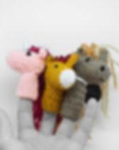 Azerbaijani Unicorn Finger Puppets. Ethically handmade in Azerbaijani. https://www.etsy.com/shop/AzerbaijaniSocks?section_id=21840753