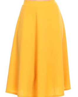 Closets by Jordan Mustard Skirt. Ethically-made.