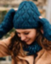 Ten Thousand Villages Blue Winter Fair Trade Wool Winter Hat.