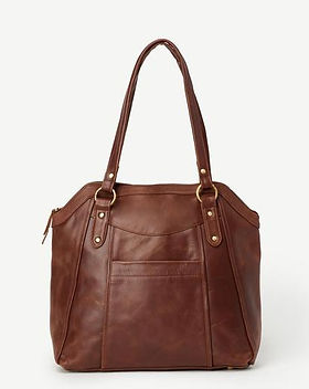 Amma's Umma Leather Chocolate Tote. Ethically-made leather totes. https://ammasumma.com/collections/bags