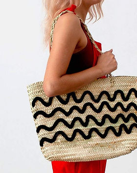 Mango and Main Wave Woven Beach Tote. Handmade and Fair Trade.