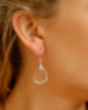 Haiti's Jewels clear drop earrings. Made by artisans in Haiti. https://www.changetheworldbyhowyoushop.com/