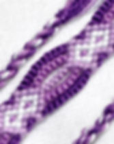 Woven Joy Purple Friendship Bracelets. http://wovenjoy.com/