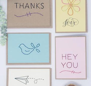 Rosie's Boutique Handmade Embroidered Greeting Cards