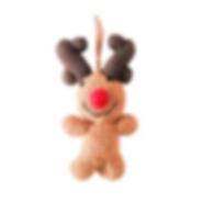 Wild Dill Rudolph the Reindeer handmade ornament for kids.