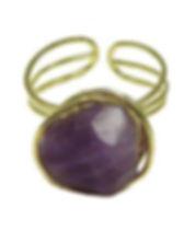 Fair Trade Fusion Chunk Agate Ring. Fair Trade.