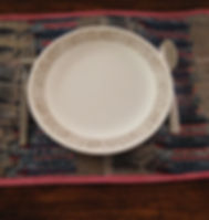 Peace Cycle placemat set. Eco-friendly and ethically-made in Haiti from upcycled plastic bags. http://www.peacecycle.com/store/p30/Place_mat_set_of_4_.html