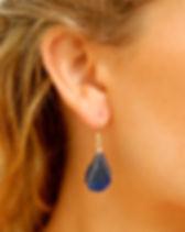 Haiti's Jewels blue drop earrings. Made by Haitian artisans. http://haitisjewels.com/shop