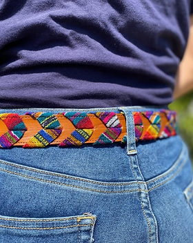 Shop With a Mission Leather Woven Fair Trade Belt.