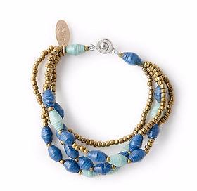 The Lemonade Boutique Amun paper bead bracelet.