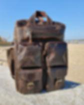 Atitlan Leather Travel Backpack. Handmade in Guatemala.