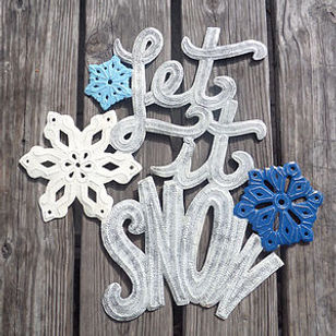 Anchored in Hope Christmas Let It Snow Hammered Metal Wall Art.