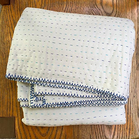 Rethreaded Cotton Double Quilt.