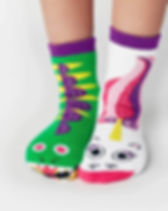 Simple Switch Dragon & Unicorn Kids Socks.
