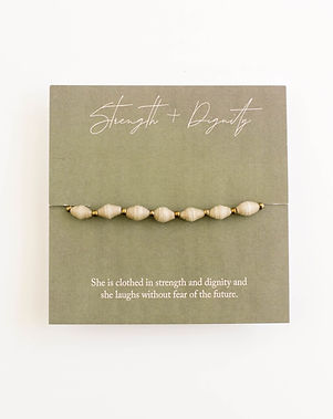 Mercy House Strength and Dignity Proverbs Fair Trade Bracelet Gift for Women